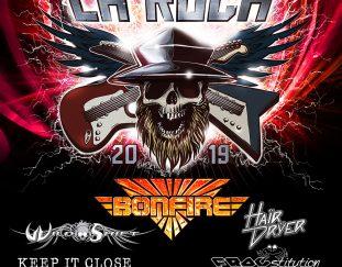 La Rock Festival am 13.4.2019 in der alten Kaserne in Landshut mit Bonfire als Headliner !