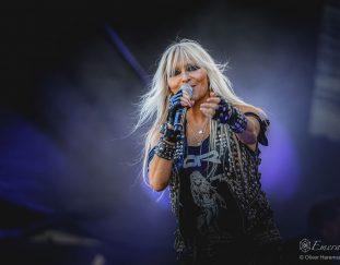 Doro Pesch im Interview vor ihrem Strandkorb -Konzert in Mönchengladbach am 21.08.2020